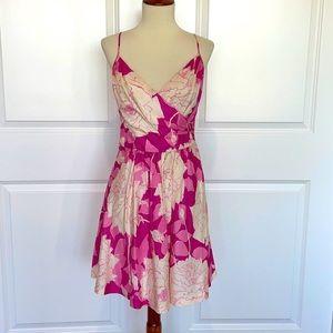 Trina Turk Floral Wrap Top Fit & Flare Dress